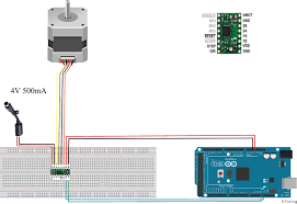 pololu a4988 and nema17 stepper motor motor controllers drivers