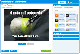 sticker maker create your own postcards schoolstickers
