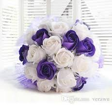 wedding flowers gift purple and white soap bridal bouquets wedding gifts never