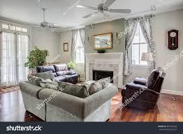beautiful livingroom fireplace furniture stock photo 397941628