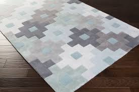 Light Gray Area Rug Surya Cosmopolitan Cos 9231 Light Grey Charcoal Teal Closeout Area