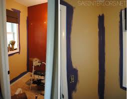 Powder Room Remodel Powder Room Remodel Repairing Wall And Hanging Wallpaper Jenna