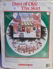 dimensions tree skirt cross stitch kits ebay