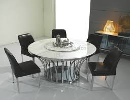 magnificent rotating dining table style marble top