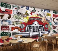aliexpress com buy custom photo mural 3d wallpaper vintage car aliexpress com buy custom photo mural 3d wallpaper vintage car license plate picture decoration painting 3d wall murals wallpaper for living room from