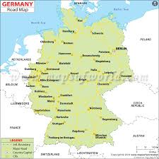 map germay roadmap of germany major tourist attractions maps