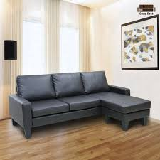 Sofa With Reversible Chaise Lounge by Amazon Com Reversible Corner Sectional Sofa Leather Loveseat