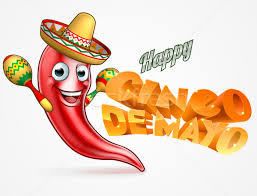 cartoon cinco de mayo cinco de mayo mexico chilli pepper design vector illustration