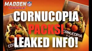 thanksgiving cornacopia cornucopia packs tomorrow madden mobile 17 thanksgiving promo