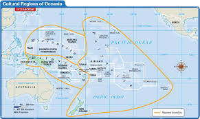 Map Of Oceania Oceania