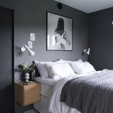 Gray White Bedroom 10 Dark Bedroom Walls Via Cocolapinedesign Com Bedroom
