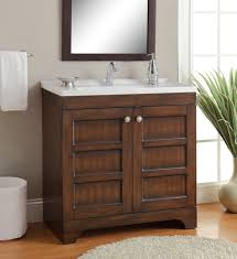 Modern Vanity Bathroom by Adelina 32 Inch Contemporary Bathroom Vanity Vitreous China Top