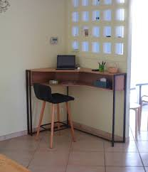 bureau en acier fabrication sur mesure d un bureau d angle en chêne et acier
