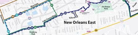 New Orleans Street Map New Orleans Regional Transit Authority Cleaner Smarter Transit