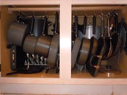 organized pots and pans in my kitchen things i have done at home