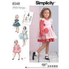 toddlers dress and pinafore simplicity sewing pattern 8348 sew