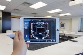 virtual floor plan aids connectivity in corporate boardroom