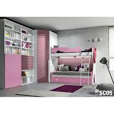 chambre fille avec lit superposé chambre d enfant avec lit superposé dreambox sc05 meubles design
