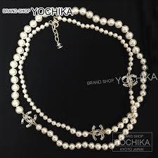 pearl rhinestone necklace images Brandshop yochika chanel chanel costume rhinestone cc mark pearl jpg