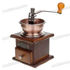 Hand Crank Coffee Grinder Mason Jar Vintage Manual Hand Wooden Coffee Pepper Herb Mill Grinder