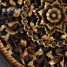 2018 thai teak wood carving decorative wall carvings southeast