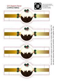 printable napkin rings christmas pudding napkin rings printable