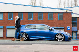 volkswagen scirocco sport vw scirocco on vossen cvt and vle 1 wheels showcased in the uk