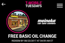 Tmobile Free Wifi Free 25 Basic Oil Change With T Mobile Tuesdays Frequent Miler