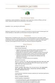 computer operator resume sample computer operator resume samples