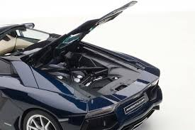 lamborghini aventador metallic grey autoart highly detailed die cast model metalic dark blue
