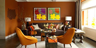 interior design interior orange paint colors artistic color