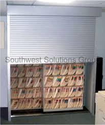In Wall Security Cabinet Lockable Shelving Doors Security Tambour Door Images