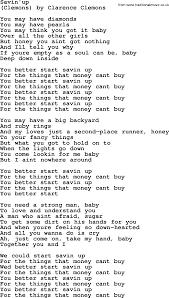 bruce springsteen song savin u0027up lyrics