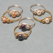 jewelry wire rings images Free wire jewelry designs wire wrapped cultured pearl rings jpg