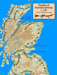 Map Of Britain Iron Age Tribes Of Northern Britain Caledonia Interactive Map