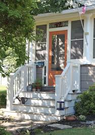 Wooden Front Stairs Design Ideas Interior Extraordinary Front Porch Curb Appeal Design With White