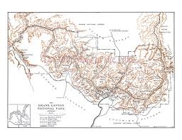Map Of Grand Canyon Grand Canyon National Park In 1919 Vintage Map Antique Map