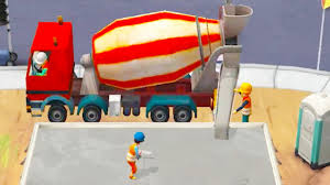 little builders kids games trucks and diggers paint a house