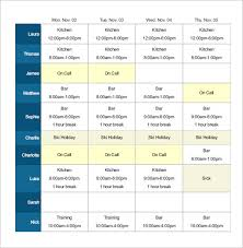 Employee Schedule Template Excel Employee Shift Schedule Template 8 Free Word Excel Pdf Format