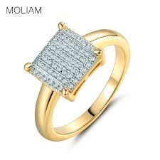 square rings jewelry images Moliam fashion wedding rings for women gold color crystal cubic jpg