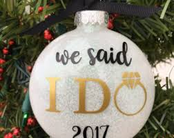 personalized wedding ornament our christmas ornament married just married ornaments
