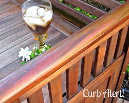 curb alert refinishing outdoor furniture garden bench