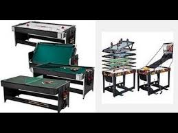 triumph 4 in 1 game table top 5 best combo game table 2018 youtube