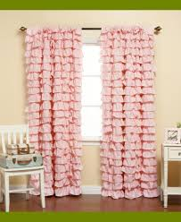 sweet pink ruffle curtains for young girls u0027 room naindien