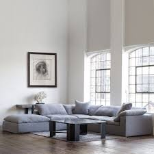 Grey Linen Sofa by Andrew Martin Truman Sectional Sofa Grey Linen Houseology