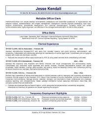 Nursing Unit Clerk Resume Office Clerk Resume Entry Level Office Clerk Resume Sample Resume