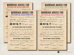 marriage advice cards for wedding printable wedding mad lib wedding advice card newlywed