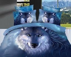Amazon Bedding Com Mbm Tm Unique 3d Oil Painting Bedding Sets Wolf Print