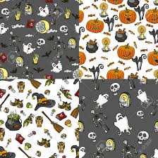 halloween children background set of cute colorful halloween doodles hand drawn stickers