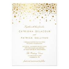 wedding invitations gold foil gold foil confetti wedding invitation card